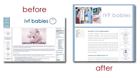 makeover of IVF babies site
